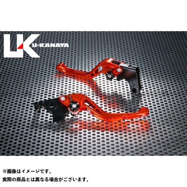ユーカナヤ CB1000R GPタイプ アルミ削り出しビレットショートレバー(レバーカラー:オレンジ) カラー:調整アジャスター:ブラック U-KANAYA