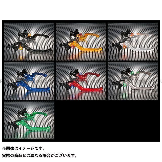 ユーカナヤ CB1000R Rタイプ 可倒式 アルミ削り出しビレットレバー(レバーカラー:ブルー) カラー:調整アジャスター:グリーン U-KANAYA