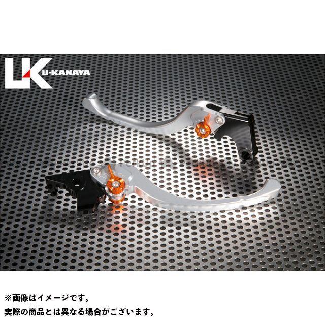ユーカナヤ CB1000R ツーリングタイプ アルミ削り出しビレットレバー(レバーカラー:シルバー) カラー:調整アジャスター:オレンジ U-KANAYA
