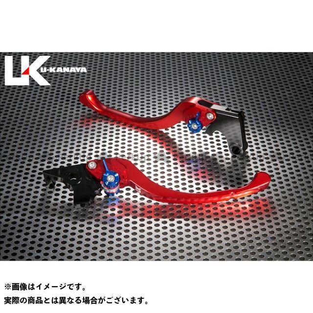ユーカナヤ CB1000R ツーリングタイプ アルミ削り出しビレットレバー(レバーカラー:レッド) カラー:調整アジャスター:ブルー U-KANAYA