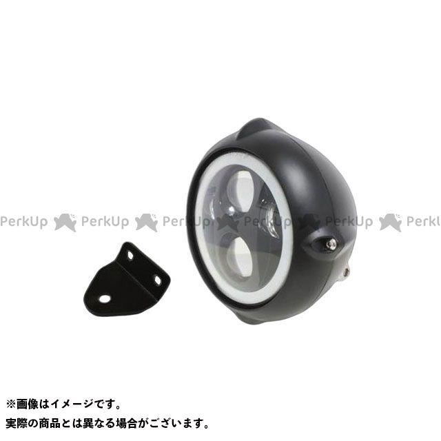 ガレージT&F SR400 SR500 5.75インチビンテージヘッドライト(ブラック) プロジェクターLED仕様(リング付き)&ライトステー(タイプC) キット ガレージティーアンドエフ