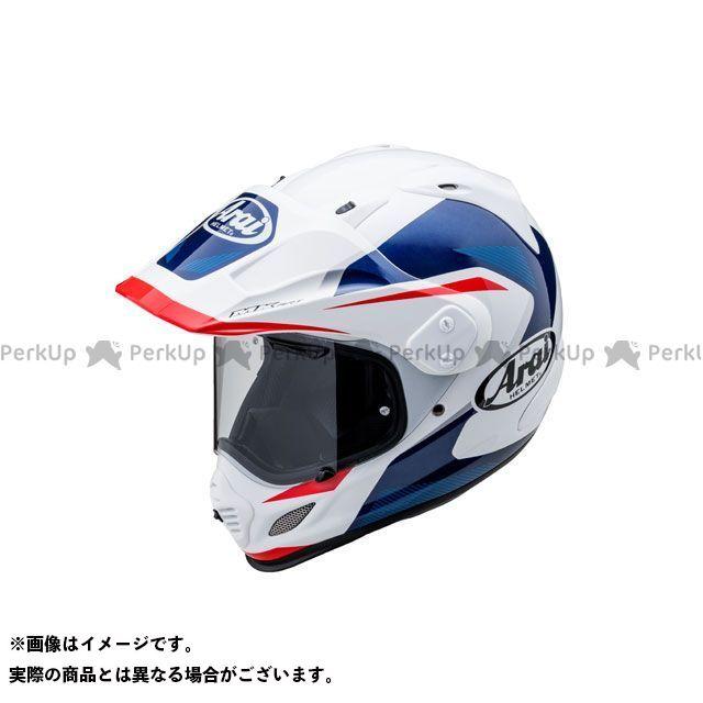 送料無料 アライ ヘルメット Arai オフロードヘルメット TOUR CROSS 3 BREAK(ツアークロス3・ブレイク) ホワイト/ブルー 61-62cm