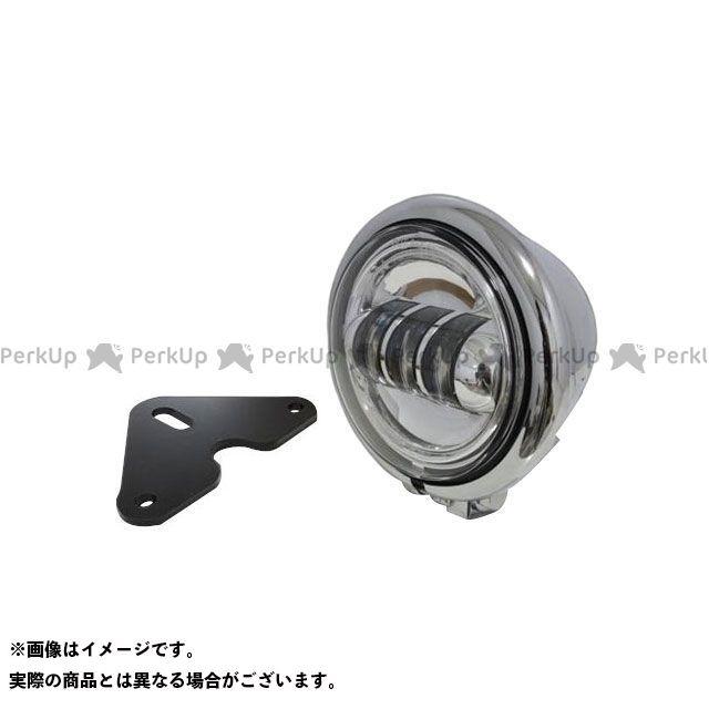 ガレージT&F グラストラッカー グラストラッカービッグボーイ ヘッドライト・バルブ 4.5インチベーツライト(メッキ) プロジェクターLED仕様&ライトステー(タイプF) キット