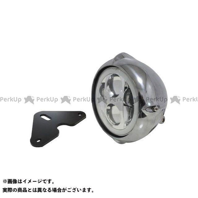ガレージT&F グラストラッカー グラストラッカービッグボーイ 5.75インチビンテージヘッドライト(ポリッシュ) プロジェクターLED仕様(リング付き)&ライトステー(タイプF) キット ガレージティーアンドエフ