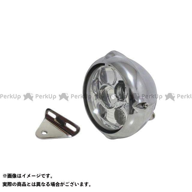 ガレージT&F スティード400 ヘッドライト・バルブ 5.75インチビンテージヘッドライト(ポリッシュ) プロジェクターLED仕様&ライトステー(タイプA) キット