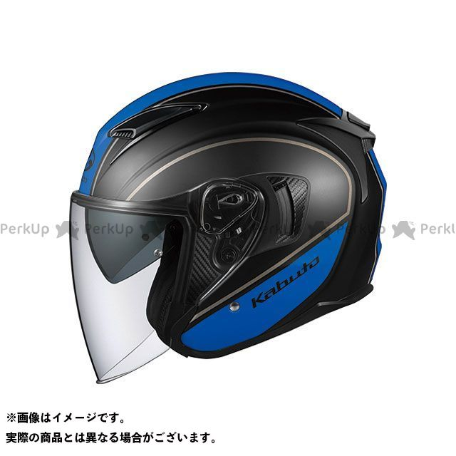 送料無料 OGK KABUTO オージーケーカブト ジェットヘルメット EXCEED DELIE(エクシード・デリエ) フラットブラック/ブルー S