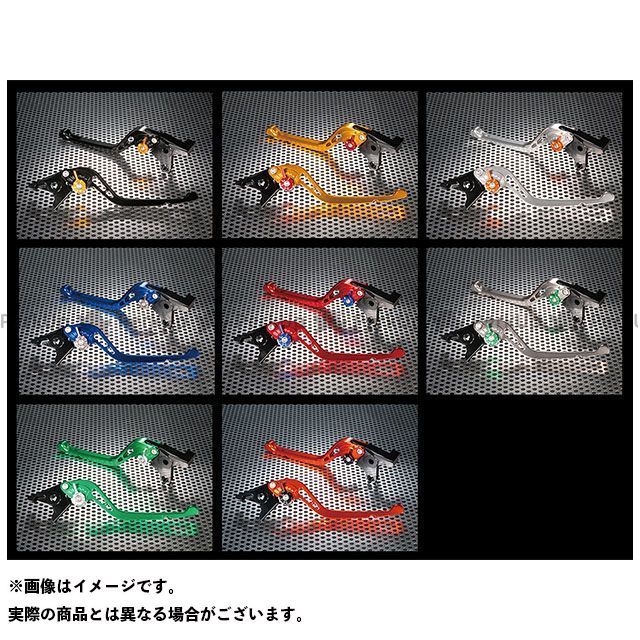 ユーカナヤ Z900RS GPタイプ アルミ削り出しビレットショートレバー(レバーカラー:オレンジ) カラー:調整アジャスター:グリーン U-KANAYA