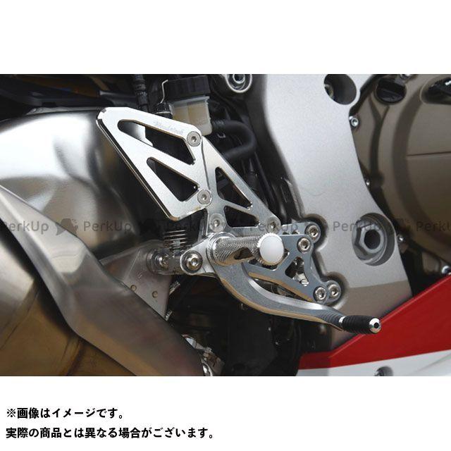 送料無料 ウッドストック CBR1000RRファイヤーブレード バックステップ関連パーツ バックステップキット(オールシルバー)