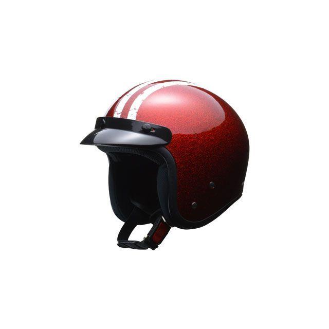 送料無料 リード工業 LEAD工業 ジェットヘルメット ジェットヘルメット FLAKER(レッド) 7月上旬発売予定 フリー/57-60cm未満