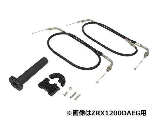 送料無料 ポッシュフェイス 250SB Dトラッカー KLX250 グリップ関連パーツ コンパクトハイスロットルキット(ブラック)