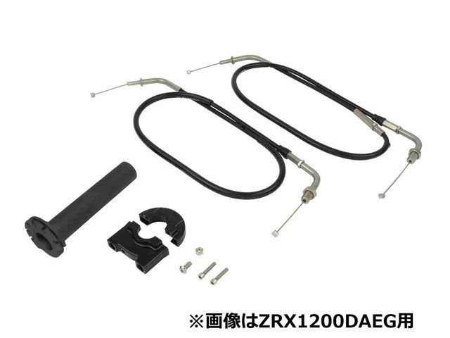 送料無料 ポッシュフェイス XJR1200 XJR1300 XJR400 グリップ関連パーツ コンパクトハイスロットルキット(ブラック)