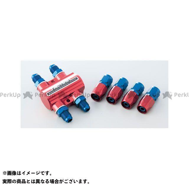 送料無料 アクティブ 汎用 ラジエター関連パーツ サーモスタットキット ストレートフィッティング×4ヶ #6(ブラック)