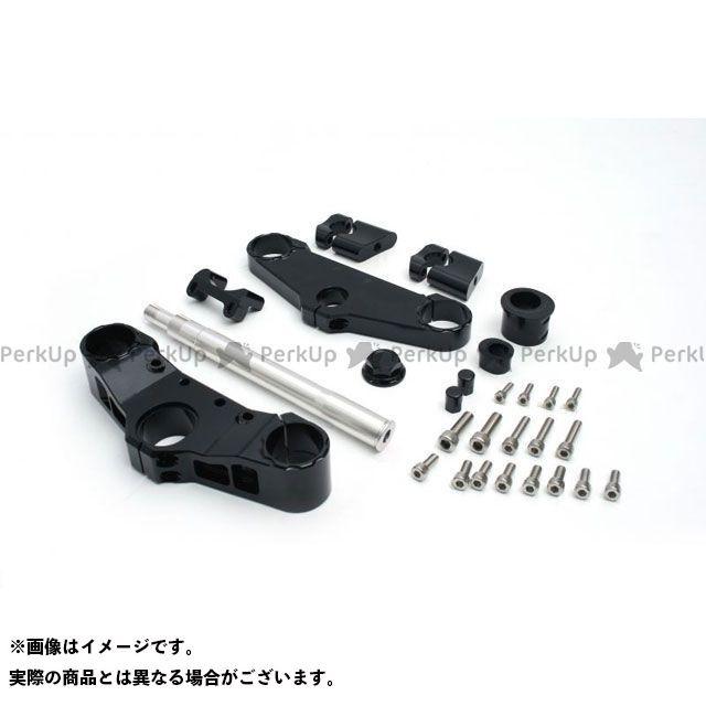 送料無料 アクティブ CB1300スーパーボルドール トップブリッジ関連パーツ コンバーチブルステムキットφ43 ホーンステー付(ハンドルポスト径φ22.2) ブラック