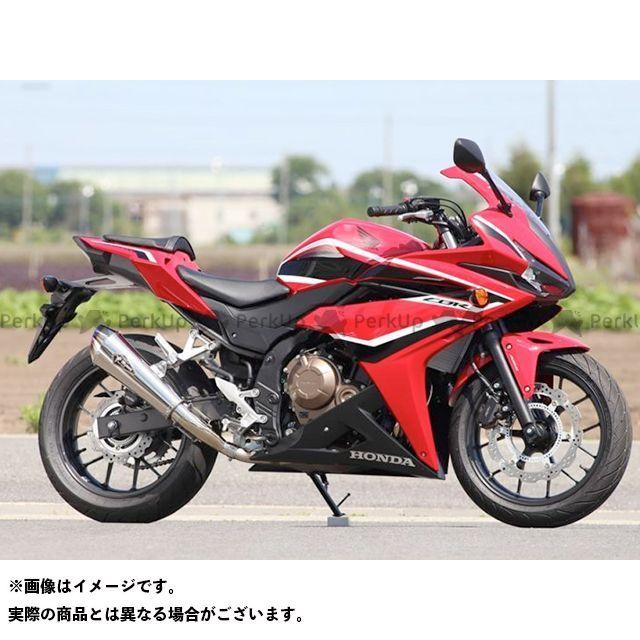 【無料雑誌付き】アールズギア CBR400R ワイバンリアルスペック スリップオン タイプR(チタンポリッシュ) R's GEAR