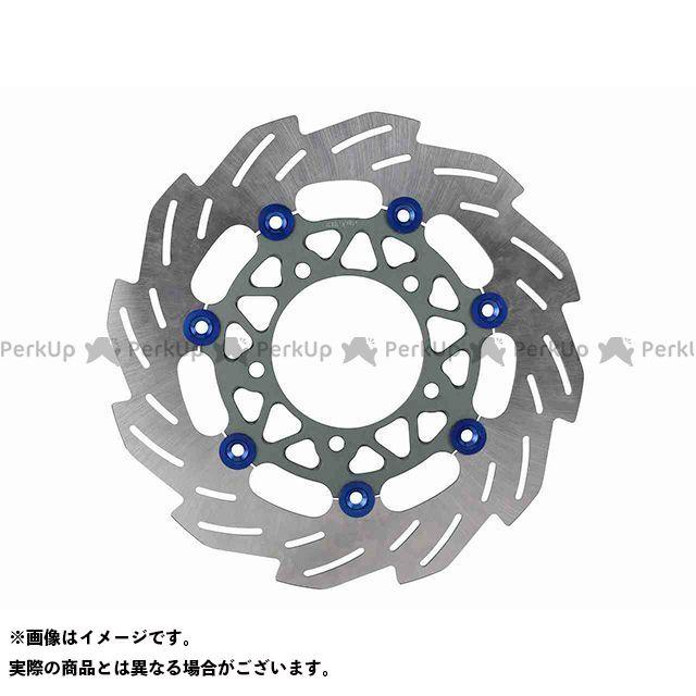 送料無料 シフトアップ シグナスX SR ディスク 260mm ウェーブフローティングディスクローター(ブルー/スモークガンメタ)