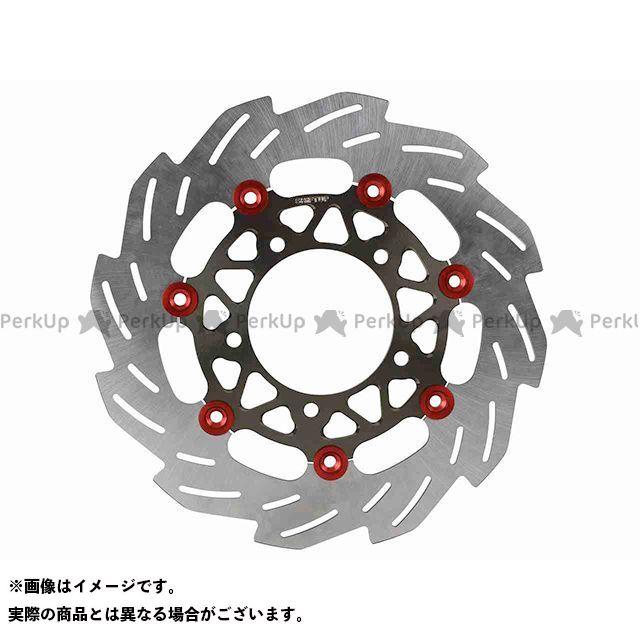 【エントリーで最大P21倍】シフトアップ シグナスX SR 260mm ウェーブフローティングディスクローター(レッド/チタン) SHIFTUP