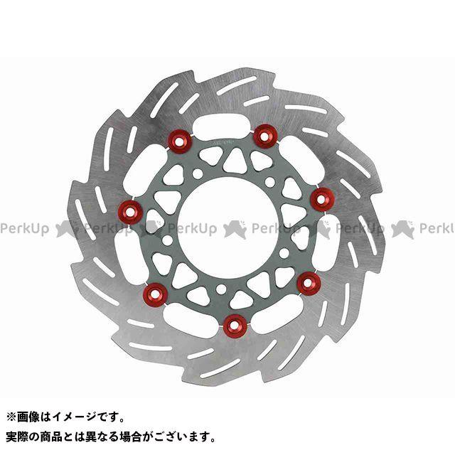 【エントリーで最大P21倍】シフトアップ シグナスX SR 260mm ウェーブフローティングディスクローター(レッド/スモークガンメタ) SHIFTUP