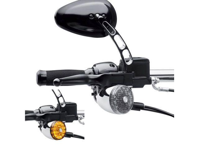送料無料 ハーレーダビッドソン HARLEY-DAVIDSON ウインカー関連パーツ LED・ブレットターンシグナル スモークカラー 左右ペア