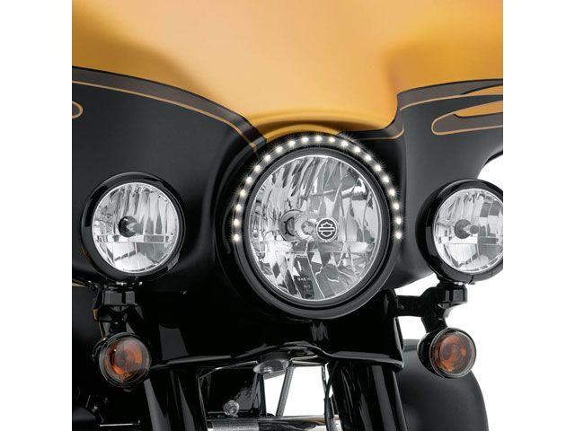 送料無料 ハーレーダビッドソン HARLEY-DAVIDSON 電装ステー・カバー類 ELECTRA GLO ヘッドライト・トリムリング 7インチ(ブラック)