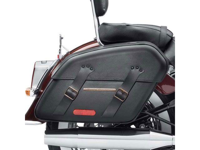 送料無料 ハーレーダビッドソン FLDE ソフテイルデラックス ツーリング用バッグ H-D デタッチャブルサドルバッグ ブラストリム