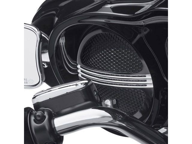 送料無料 ハーレーダビッドソン FLHT エレクトラグライド FLHTCUTG トライグライドウルトラ FLHX ストリートグライド ドレスアップ・カバー Defiance バットウィングフェアリング スピーカーグリル