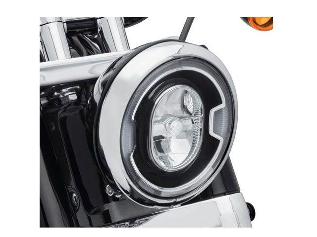 送料無料 ハーレーダビッドソン HARLEY-DAVIDSON ヘッドライト・バルブ 7インチ デイメーカー シグネチャー リフレクターLEDヘッドランプ(ブラック)