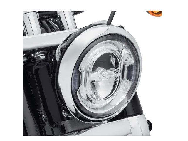 送料無料 ハーレーダビッドソン HARLEY-DAVIDSON ヘッドライト・バルブ 7インチ デイメーカー シグネチャー リフレクターLEDヘッドランプ(クローム)