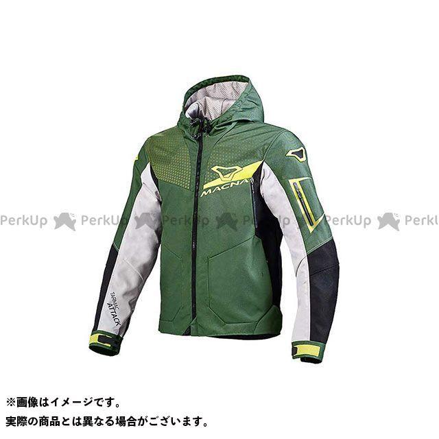 送料無料 マクナ MACNA ジャケット Imbuz(インバズ) ライディングジャケット ダークグリーン/ライトグレー/ブラック XL