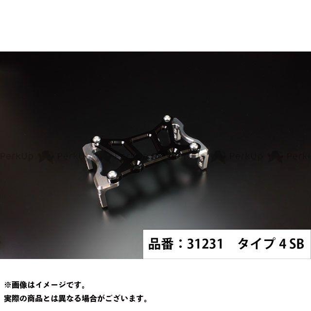 Gクラフト ゴリラ モンキー 173mmピッチステムキット用スタビライザー タイプ4(シルバー/ブラック) メーカー在庫あり ジークラフト