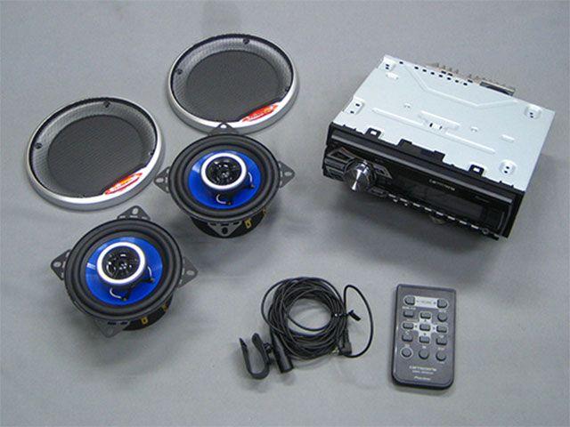 M-SOUL 汎用 その他電装パーツ ワイヤレスオーディーシステム 2スピーカー ブルー