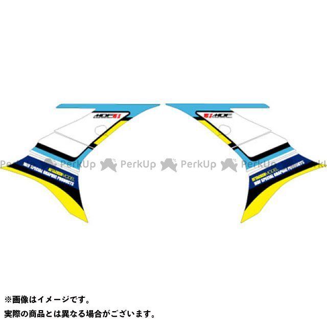 MDF GSX-R125 GSX-R125(2018~) グラフィックキット アタッカーモデル ブラックタイプ タイプ:フロントサイドパーツ エムディーエフ