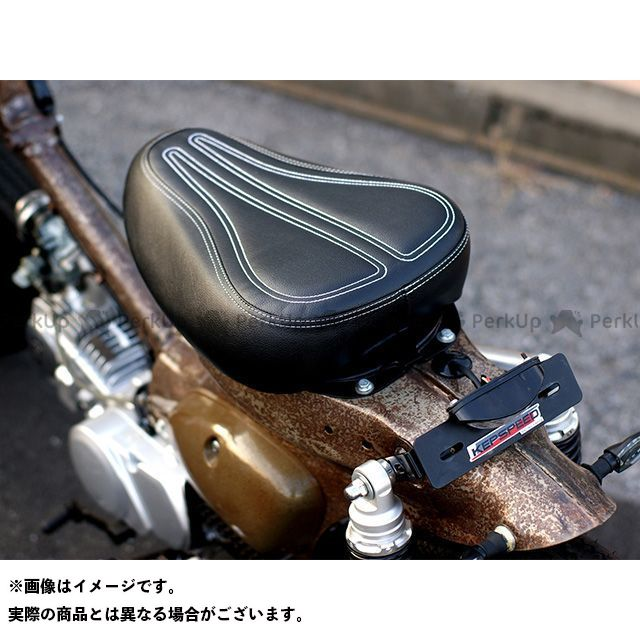 ケップスピード スーパーカブ50 カブ用 シングルカスタムシート ステッチデザイン(ブラック) KEPSPEED