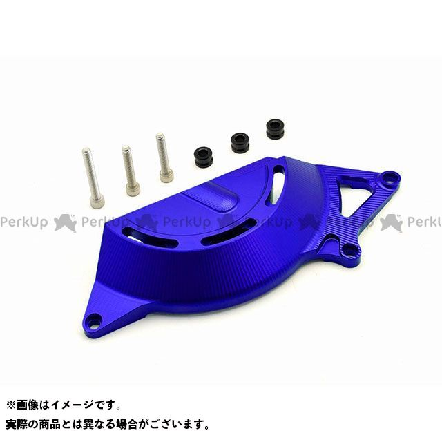 【特価品】リデア ニンジャ250 ニンジャ400 アルミ削り出しエンジンカバー 右後(ブルー) RIDEA