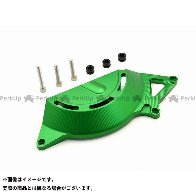 【特価品】リデア ニンジャ250 ニンジャ400 アルミ削り出しエンジンカバー 右後(グリーン) RIDEA