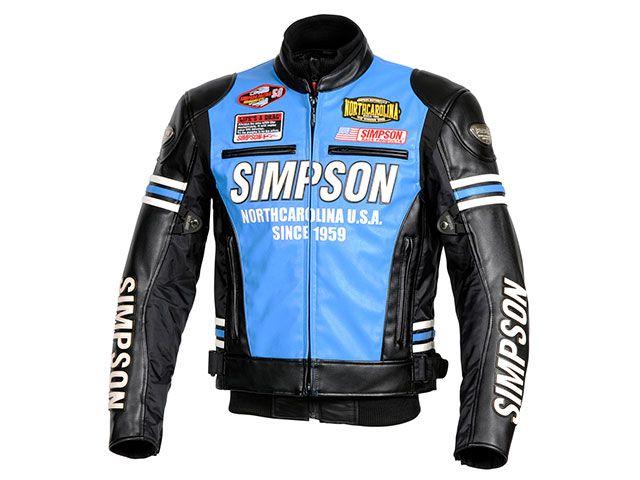送料無料 シンプソン SIMPSON ジャケット 2018-2019秋冬モデル SJ-8133 PUレザージャケット(ブルー) LL