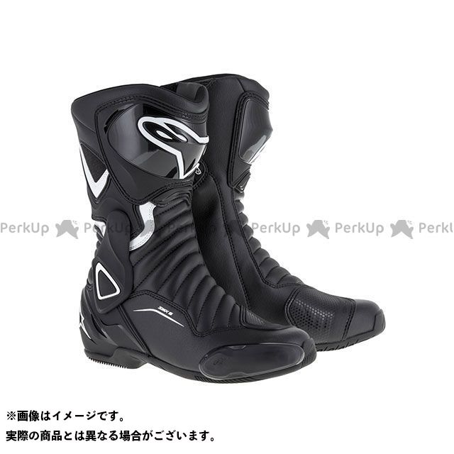 【エントリーで更にP5倍】Alpinestars ステラ SMX 6 ブーツ(ブラック/ホワイト) サイズ:39 アルパインスターズ