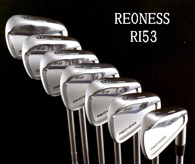 REONESS リオネス RI53 (ニクロムメッキ)オプション#4 スチールアイアンGeorge Spiritsスチールアイアン (NS PRO/DG)
