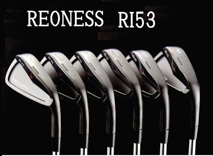 REONESS リオネス RI53 アイアンヘッド単体(ブラックPVD)George Spiritsスチールアイアン6個セット #5~9、PW