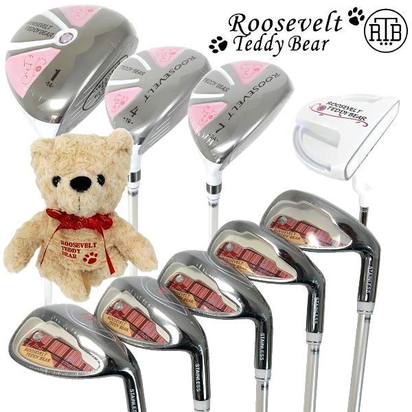 【レディースゴルフクラブ9本セット】Roosevelt Teddy Bear ルーズベルト テディベア RTB-TY7100ヘッドカバー付き