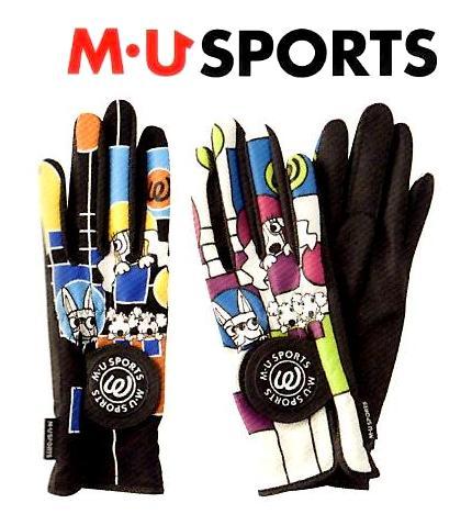 有M、U SPORTS★M你体育女士高尔夫球手套703U6800(双手)指尖,20%OFF MU进行体育活动[供供供高尔夫球手套/高尔夫球使用的手套/手套/妇女/女性使用的/女性/双手使用的/高尔夫球手套]