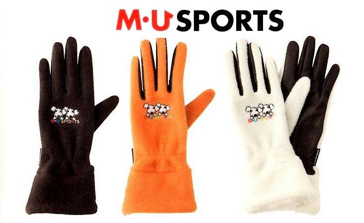 M・U SPORTS レディースゴルフ手袋防寒用グローブ703U6804(両手)あったかい 30%OFF 着けたままゴルフができる