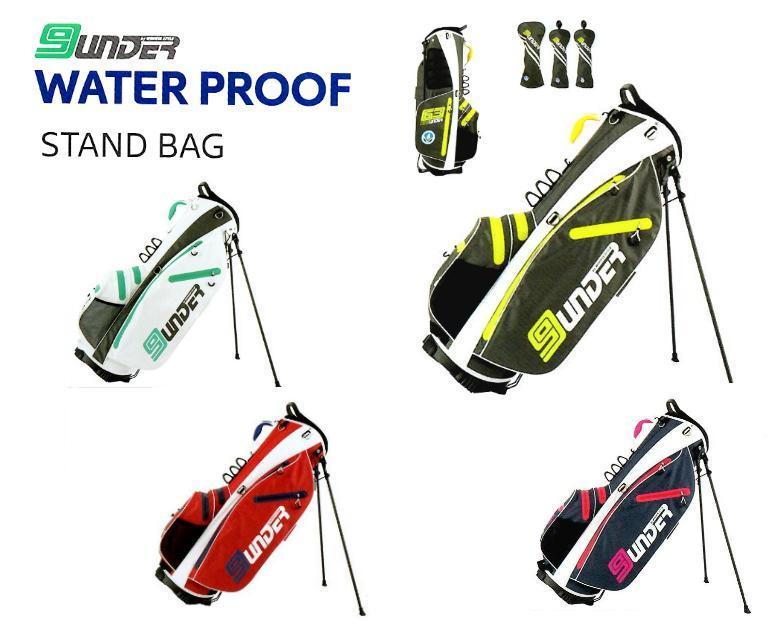 WATER PROOF STAND BAG 9.0型【ヘッドカバーセット】2.0kg防水機能素材軽量スタンドバッグWINWINウィンウィンキャディバック CB-865S/866S/867S/868Sウォータープルーフスタンドバッグ