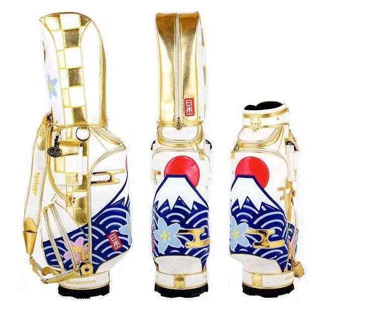 『キャディーバッグ』 WINWIN富士山/日本一 CART BAG 9型 GOLD Version 9.0型 (47インチ対応) 限定各50本 CB-349 ※ネームプレート刻印無料 キャディバッグ かわいい 和柄 おしゃれ ウィンウィン 【送料無料】