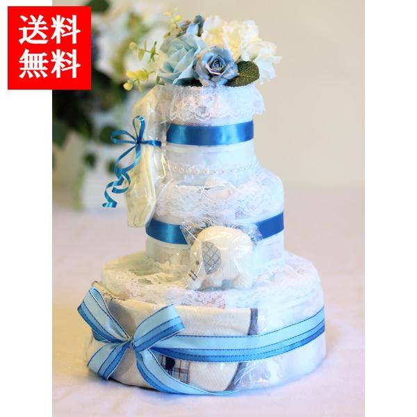 Angel Cake ダイパーケーキ おむつケーキ ビセラタワー ブルーリボン エンジェルケーキ 出産祝い