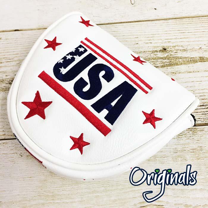 ユニークなPRGオリジナルズ USモデル PRG オリジナルズ マレット用パターカバー ホワイト あす楽対応 春の新作シューズ満載 即納 USA 迅速な対応で商品をお届け致します GOLF 新品 ゴルフクラブカバー