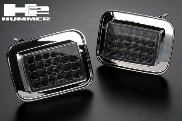 ハマーH2 ドレスアップ人気アイテム LED クリスタル パーク シグナル ランプ IPCW製 スモーク ウィンカー 在庫あり 【適合車】03-09 ハマー H2 HM78