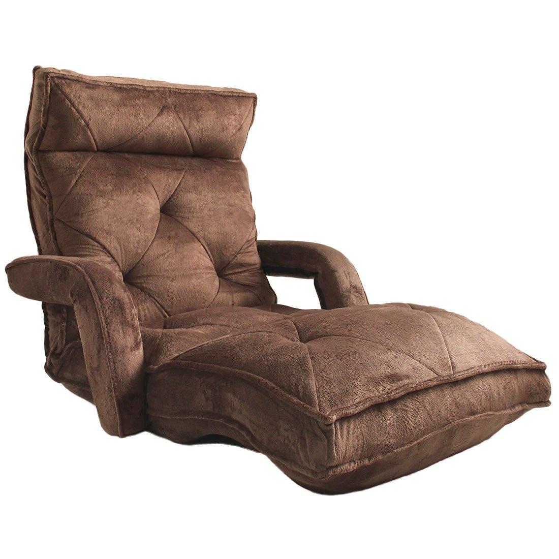 ☆12時~12H全品クーポンで5%OFF☆ 肘掛け ロング 座椅子 42段階 リクライニング リクライニングチェア 低反発 肘掛 肘付き ビックサイズ 座いす ハイバック フロアチェア 座イス 1人掛け ソファ ソファー