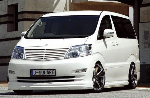 G-square ALPHARD アルファード 10系 MC後 全車対応 マークレスグリル ブラインドコーナーモニター対応 未塗装