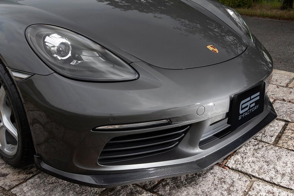 ポルシェ ケイマン ケイマンS ボクスター ボクスターS 718【フロントフラップ】ウェットカーボン