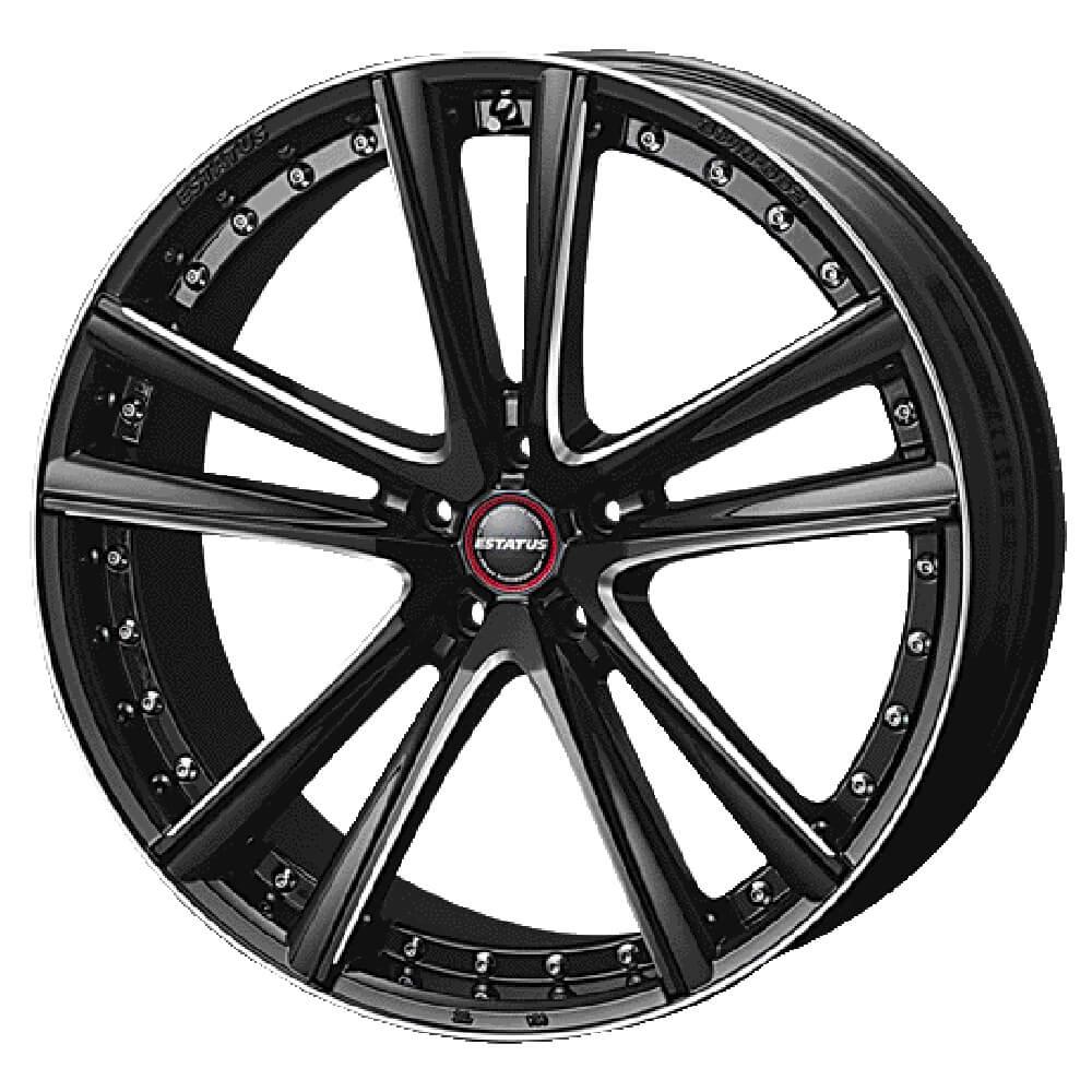 ESTATUS Style-652(エステイタス スタイル652)20インチ-8.5J インセット35・5H/114.3「ブラックサイドマシニング」1本 アルミホイール wheel